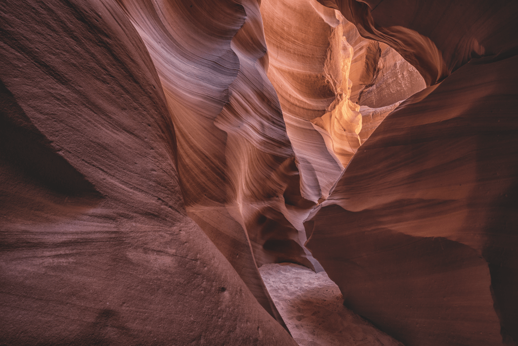 Red Sandstone Caves in Antelope Canyon