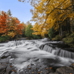 Bond Falls during the Fall in Michigan's Upper Peninsula