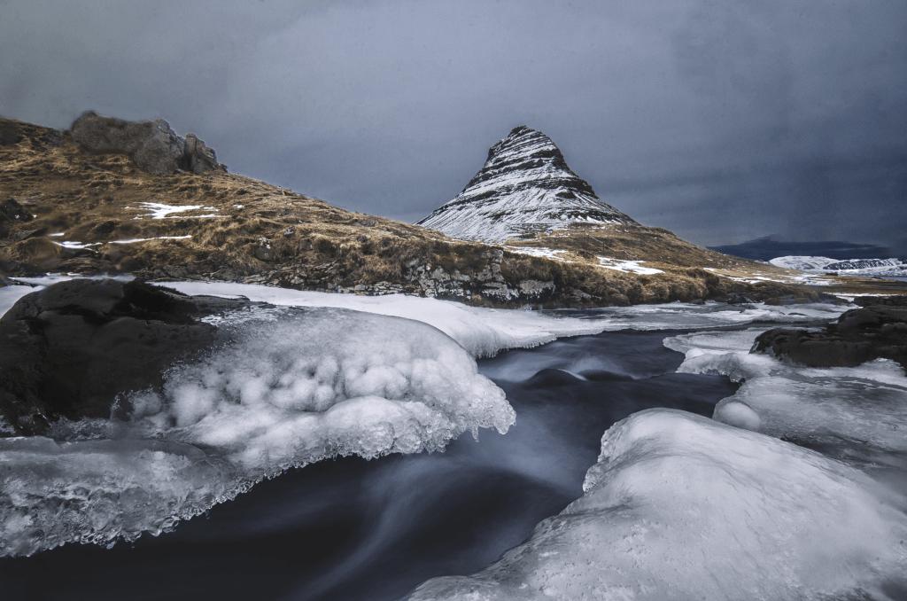 Iceland's icon Kirkjufell Mountain
