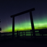 Northern Lights over Lake Superior on M28 in Marquette
