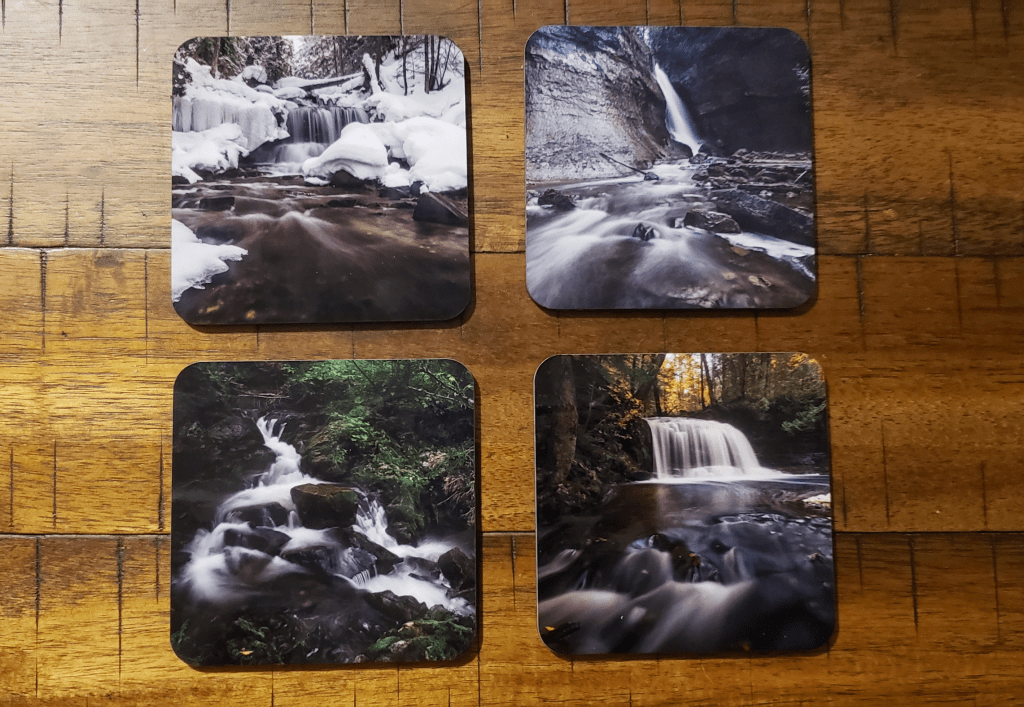 Win a set of waterfall coasters to end the new year!